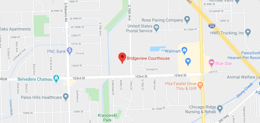 Bridgeview Courthouse Map | Traffic Lawyers Bridgeview